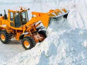 услуга уборки снега, вывоз снега